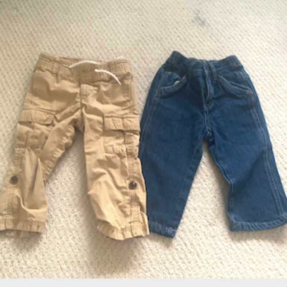 Cherokee Infant Boys Cargo Pants Denim Blue Size 12 Months  NWT